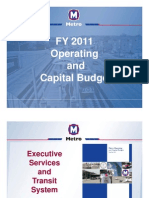 St. Louis Metro Transit FY2011 Operating and Capital Budget Presentation