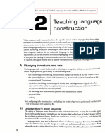 Teaching language construction - Harmer, J (2007)