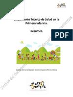 7. Resumen - De Salud en La Primera Infancia 0 a SIEMPRE