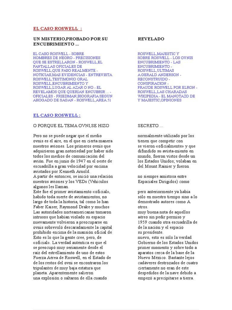 EL CASO ROSWELL.doc bcfa624d78a