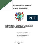 TESIS Relación Entre Atrición Oclusal y La Recesión Gingival DANY KATHERINE ARENAS QUINTANILLA