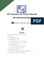 El Comentario de Textos Literarios por Antonio Segura