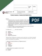 Examen Lenguaje y Comunicación