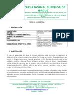 Plan de Asignatura  - Grado 9 -2016