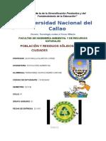 INFORME N°10 -POBLACIÓN Y RESIDUOS SÓLIDOS EN LAS CIUDADES