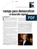 01 - 07 - 16 TiempoParaDemocratizar ElDesarrolloRegional