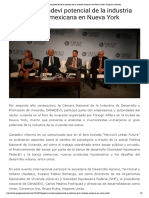 01 - 07 - 16 Presenta Canadevi Potencial de La Industria de La Vivienda Mexicana en Nueva York