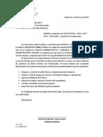 Carta de Aceptación de Prácticas Pre Profesionales
