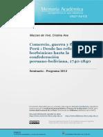 Comercio, Guerra y Finanzas en El Perù