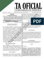 Gaceta Oficial Extraord in Aria 6226