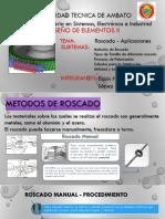 Exposición Roscado Aplicaciones EspinH LopezS