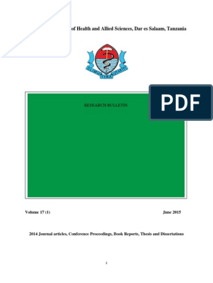 Final Research Bulletin 2014 HEMOGLOBIN WHO | Prostate