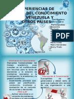 Experiencias de Gestión de Conocimiento en Venezuela y Otros Países