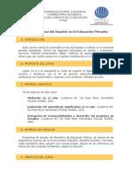 Enseñanza del Español en la Educación Primaria