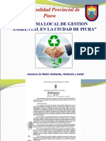 Sistema Local de Gestion Ambiental en La Ciudad de Piura