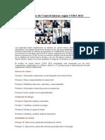 17 Principios de Control Interno Según COSO 2013