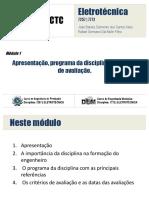 Módulo 1 - Programa e Critérios