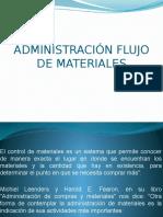 Administración Flujo de Materiales
