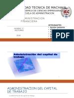 Administracion Del Capital