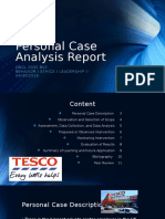 personal case analysis report