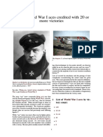 0 WW1 Aces - List of World War I Aces Credited With 20 or More Victories