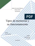 Tipos de Memorias y Funcionamiento (RAM, ROM, PROM, EPROM, Etc.)