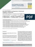 2015 Guía SECOT-GEIOS en Osteoporosis y Fractura Por Fragilidad. Actualización
