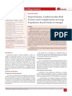 Hypertension, Cardiovascular Risk Factors and Complications in Large Population Based Study in Senegal