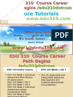 EDU 310 Course Career Path Begins Edu310dotcom