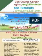 ENG 225 Course Career Path Begins Eng225dotcom