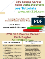 ETH 316 Course Career Path Begins Eth316dotcom