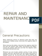 8) Repair and Maintenance