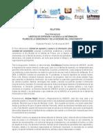 "Relatoria Oficial Foro Internacional ""Libertad de Expresión y Acceso a la Información"