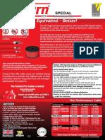 VXS Ventcroft No Burn XS Fire Resistant Cable 2x1.5mm2 CAT CWZ 950 Degree LPCB- UK