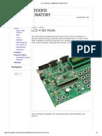 Lcd 4-Bit Mode - Embedded Laboratory