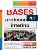 Bases Profesorado Interino