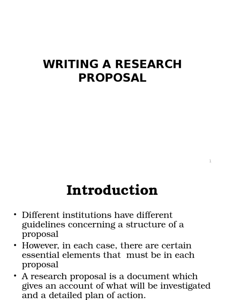 elements of research proposal