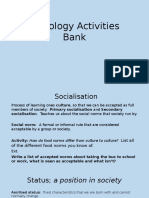 sociology activities bank