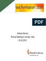 Food Fortification Basic on Premix