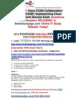 (July-2016 NEW)exam 210-065 PDF Dumps 192q(11-20)