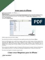 Crear Ringtone paraiPhone