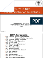 2016 NAT Test Admin Guidelines