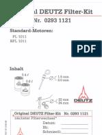 02977537 Maintenance kit Deutz 1011