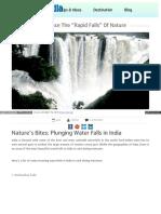 Beautiful Waterfall in India During Monsoon-Touisminfopedia