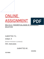 Online Asignment