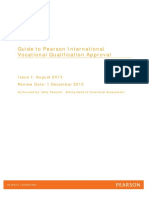 Guide to Pearson International Vocational Qualification Approval 2013