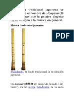 La Música Tradicional Japonesa Se Conoce Con El Nombre de Hougaku