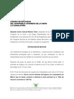 PROPOSICIÓN CON PUNTO DE ACUERDO EXHORTO PARA INTERNET GRATIS - DIP. SAMUEL MORENO - 18 DE MARZO 2010