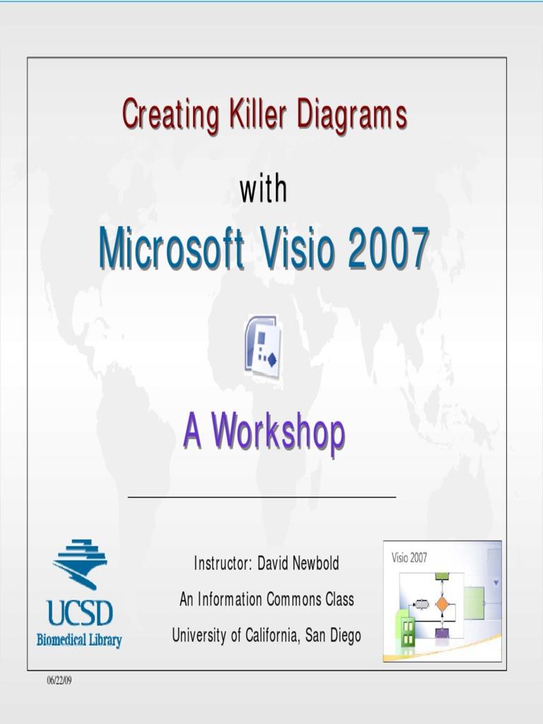 Microsoft Visio 2007 Creating Killer Diagrams Software Technology Process Flow Diagram