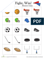 Memory Game Sports 1